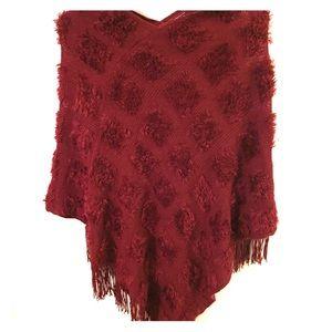 Sweaters - **3/$25** w/BUNDLE Crimson PONCHO Sweater